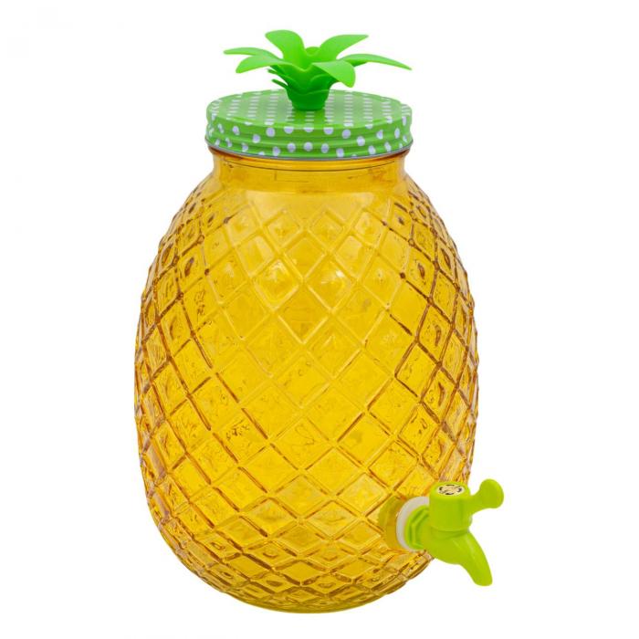 Recipient pentru lichide din sticlă-Ananas.4 L [0]