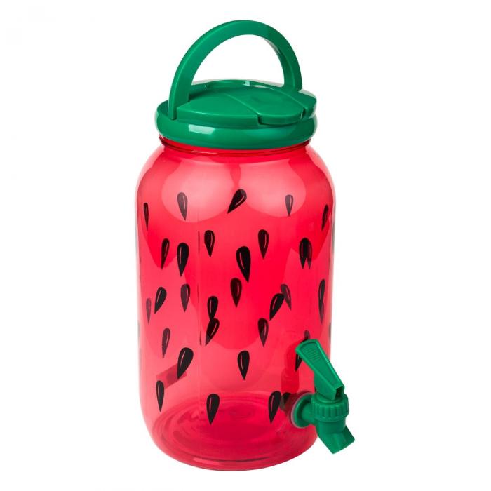 Recipient din plastic cu desen pepene roșu. 3.8 L [0]