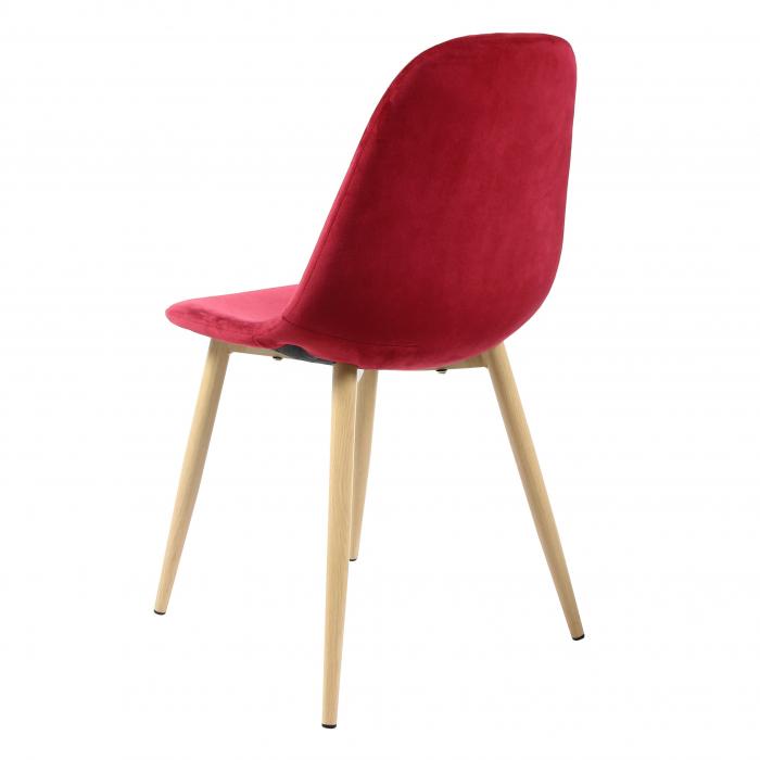 Scaun tapițat roșu 2