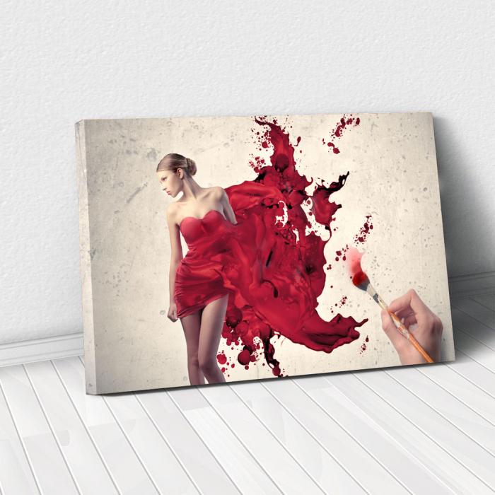 Tablou Canvas - Brush work 0