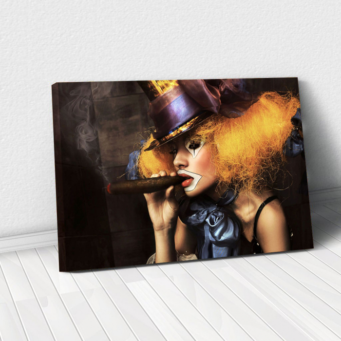Tablou Canvas - Woman clown 0
