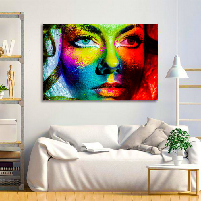 Tablou Canvas - Colorful face 1