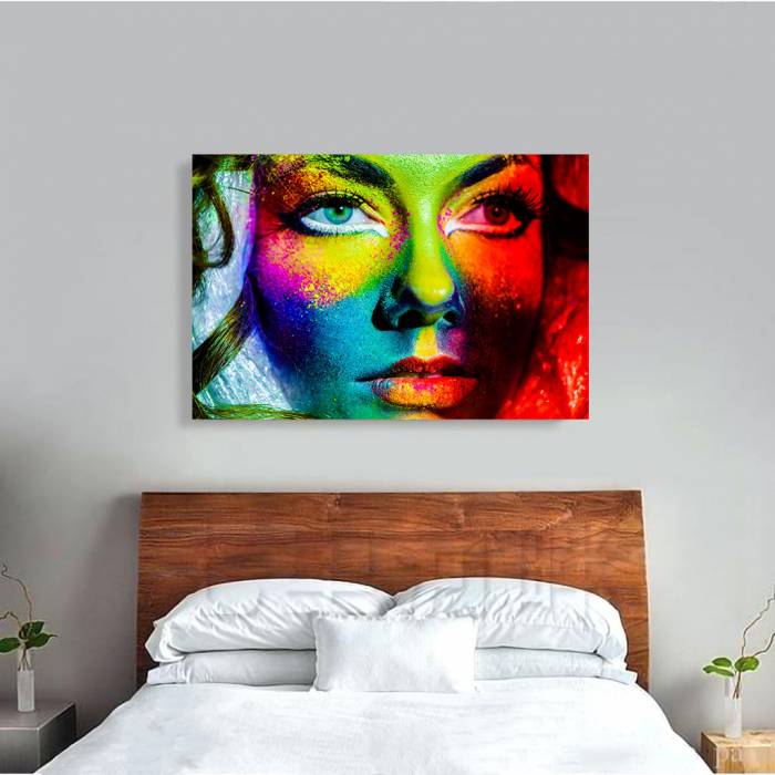 Tablou Canvas - Colorful face [3]