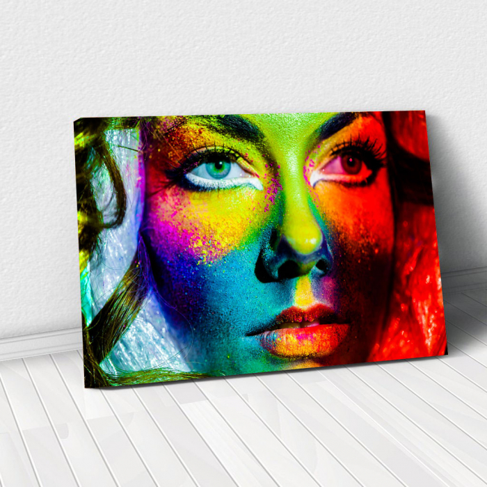 Tablou Canvas - Colorful face 0