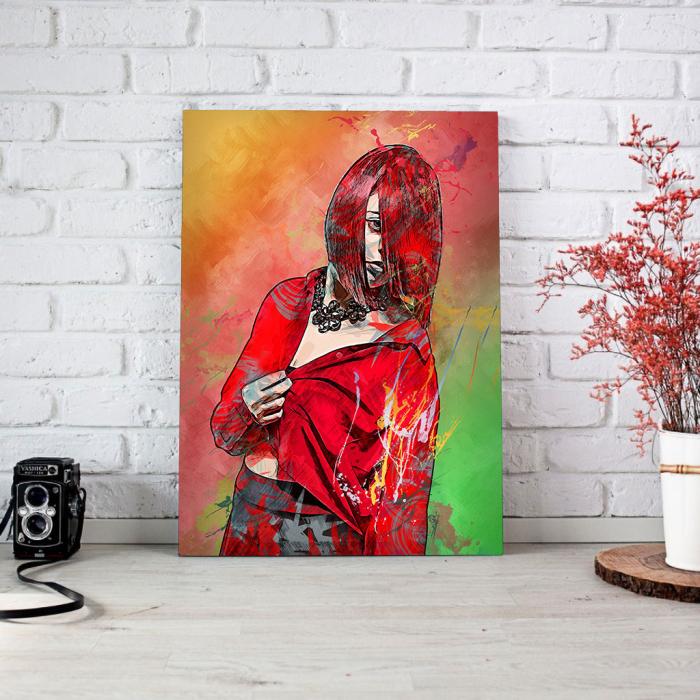 Tablou Canvas - Red fashion 1