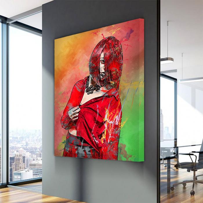 Tablou Canvas - Red fashion 3