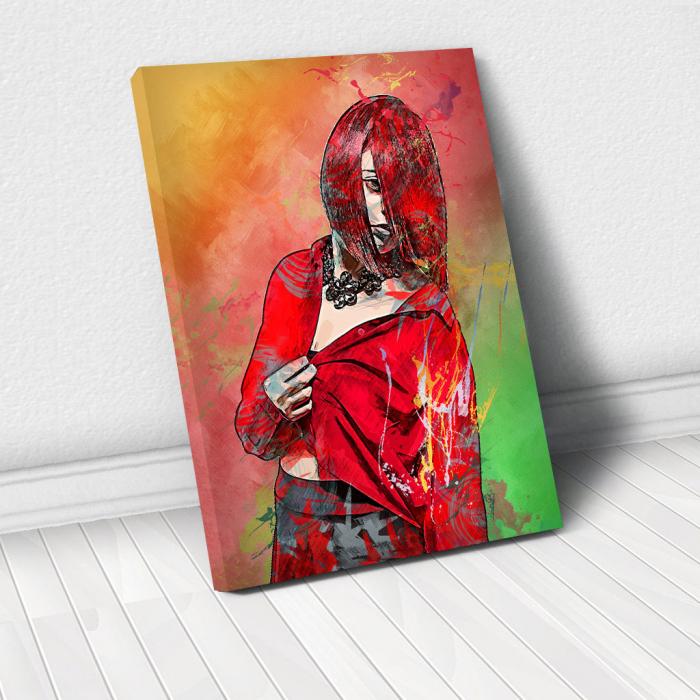 Tablou Canvas - Red fashion 0