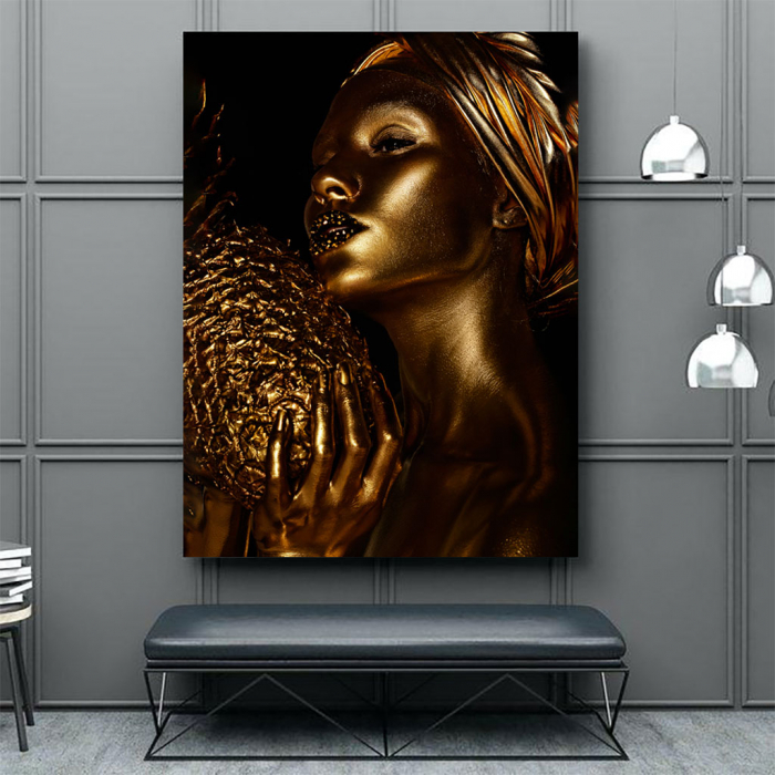 Tablou Canvas - African Gold 3 1