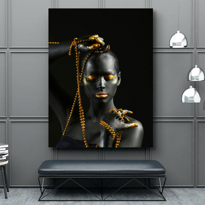 Tablou Canvas - Gold in new style 3