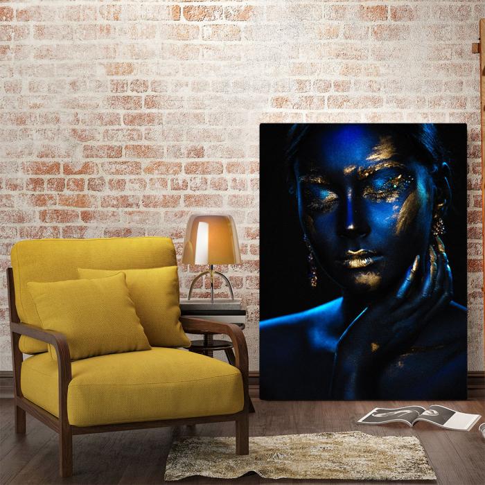 Tablou Canvas - Blue & Gold [1]