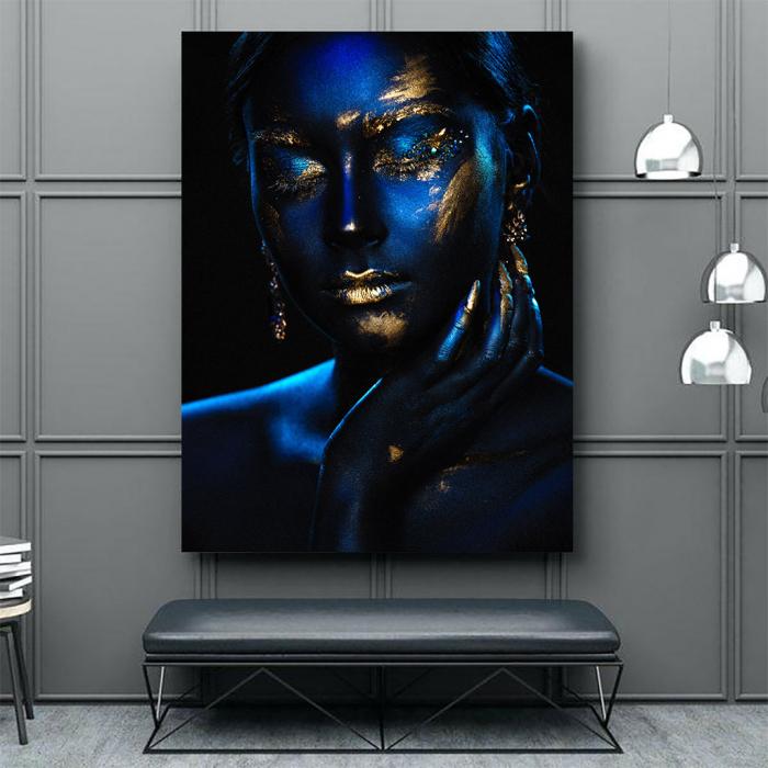 Tablou Canvas - Blue & Gold [3]