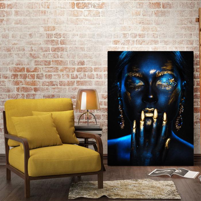 Tablou Canvas - Blue & Gold ll [1]