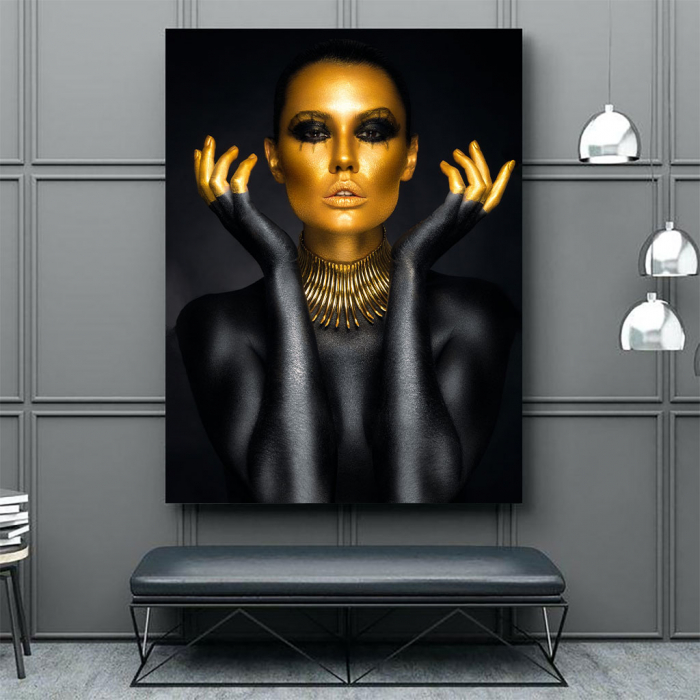 Tablou Canvas - Painted in gold 3