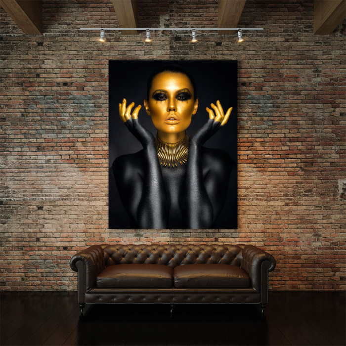 Tablou Canvas - Painted in gold 1