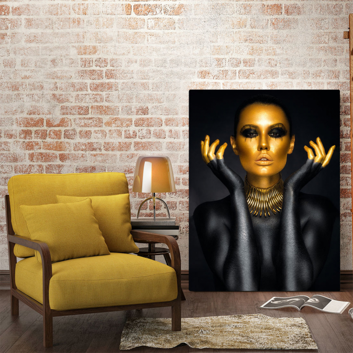 Tablou Canvas - Painted in gold 2