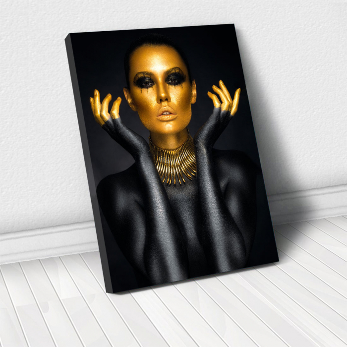 Tablou Canvas - Painted in gold 0