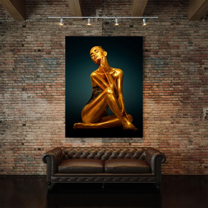 Tablou Canvas - Golden Pose [2]