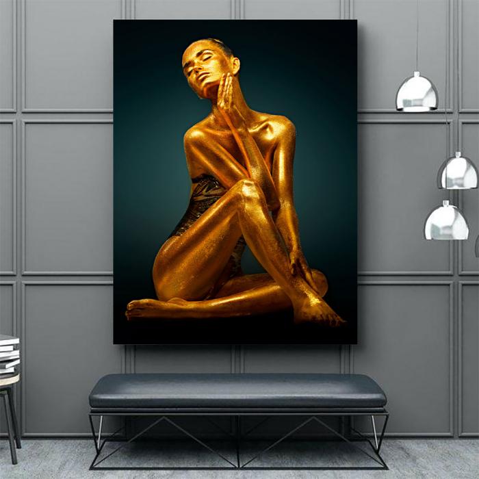 Tablou Canvas - Golden Pose [3]