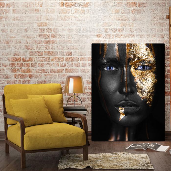 Tablou Canvas - Golden face style [1]