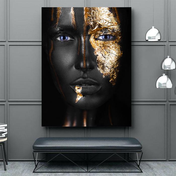 Tablou Canvas - Golden face style [3]