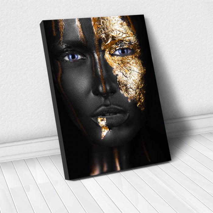 Tablou Canvas - Golden face style [0]