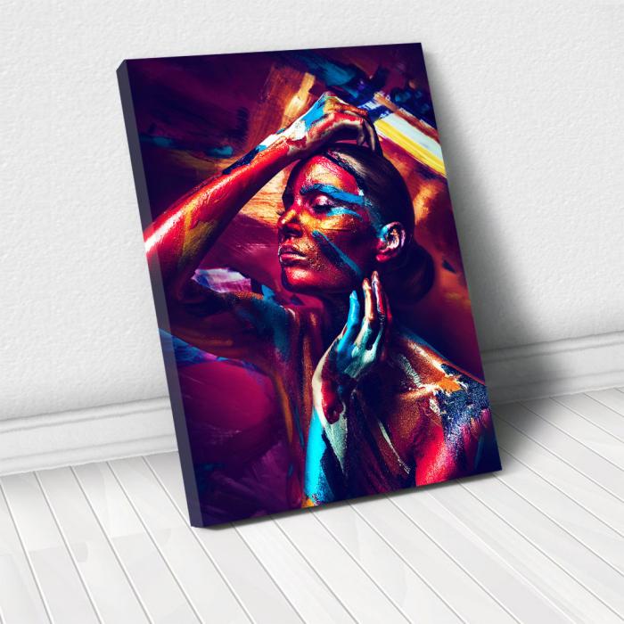Tablou Canvas - Body Paint Stripes 0