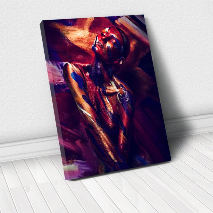 Tablou Canvas - Paint Stripes Pose 0