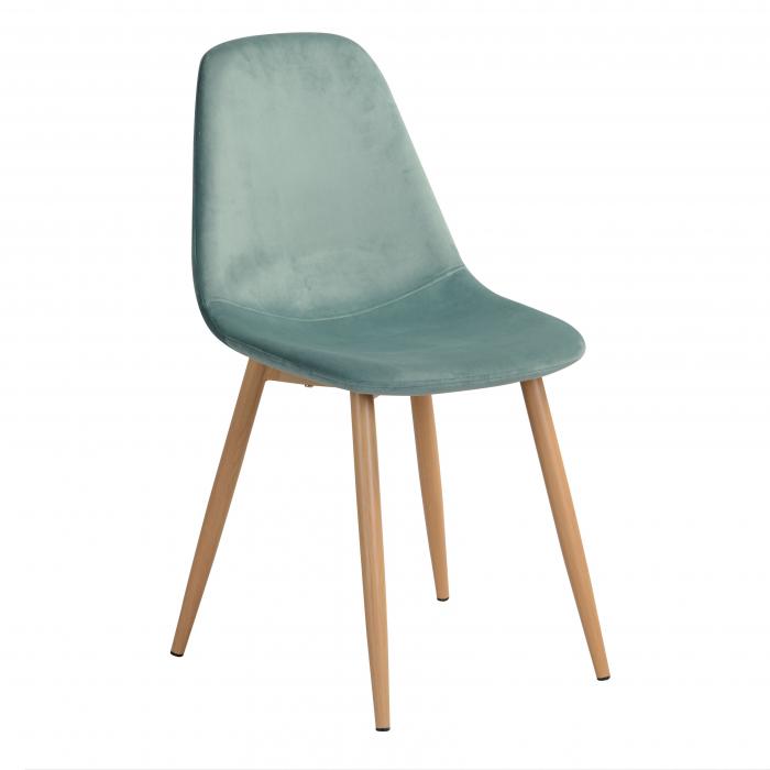 Scaun tapițat albastru [0]