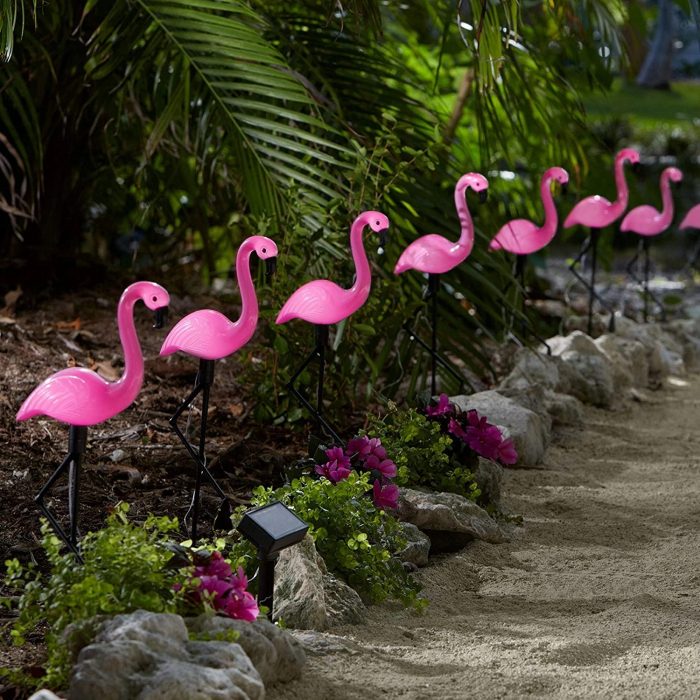 Set 3 lămpi solare, Flamingo, 18x6x52 cm, 3x2 LED, AA 1