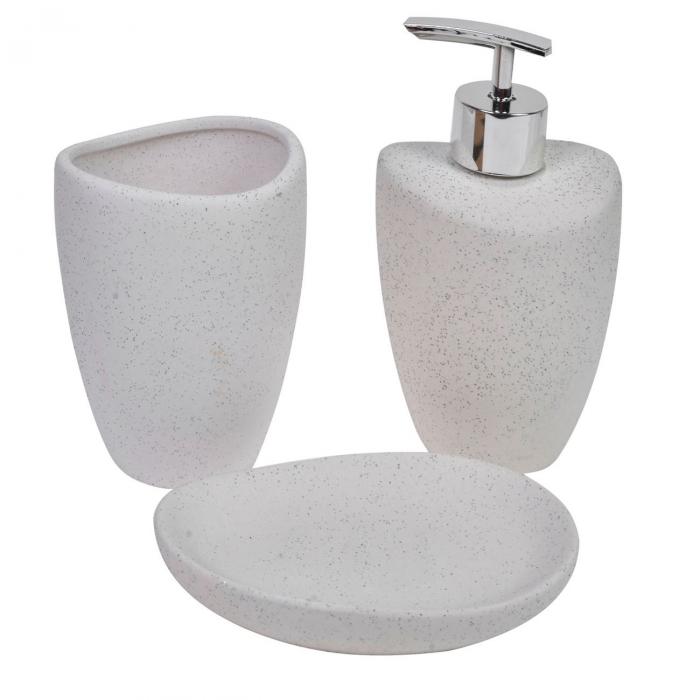 Set de baie,culoare gri,ceramic,3 buc 0