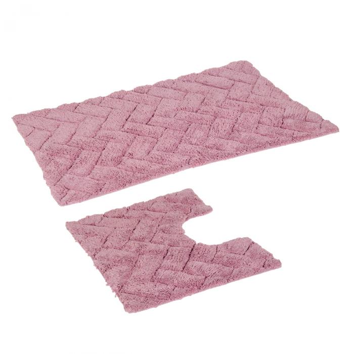 Set de covorase de baie roz - 2 buc. 0