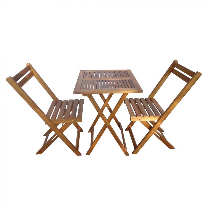 Set masă pătrată cu 2 scaune pentru grădină 0