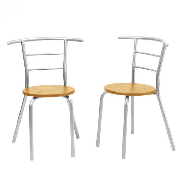 Set masă ovală fixă cu 2 scaune, bucatarie, fag, 1C 3