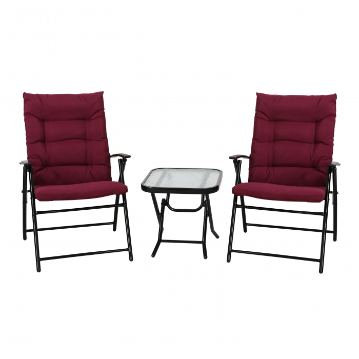 Set de masă pătrată cu 2 scaune pliante [0]