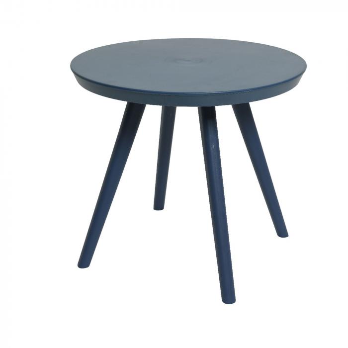 Set mobilier grădină din plastic,albastru din 3 piese 2