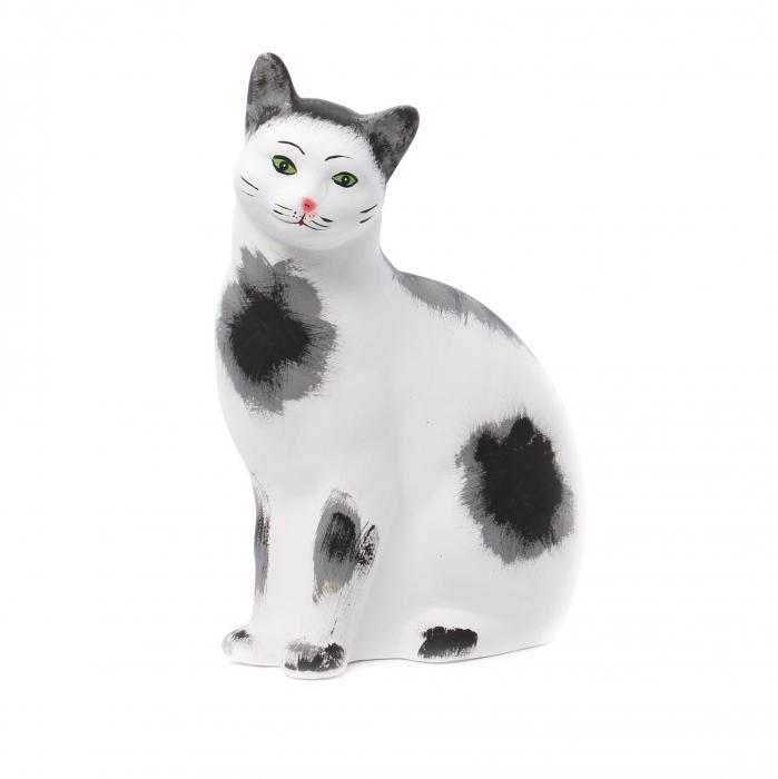 Statuetă pisică,decorațiune grădină,ceramică,H 42 cm 0
