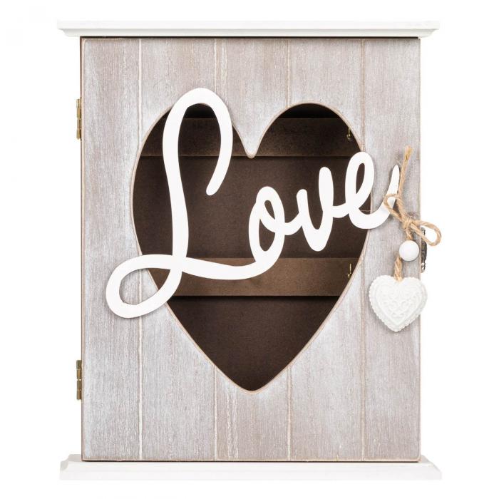 """Suport din lemn pentru chei """"LOVE"""" - 22x7x26.5cm 0"""