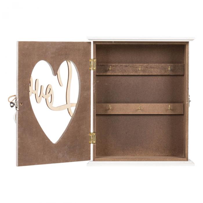 """Suport din lemn pentru chei """"LOVE"""" - 22x7x26.5cm 1"""