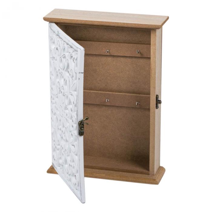 Suport din lemn pentru chei - 18.5x6x26cm 2