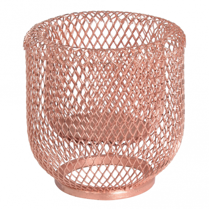 Suport pentru lumânare de culoare roz 11.5 cm 0