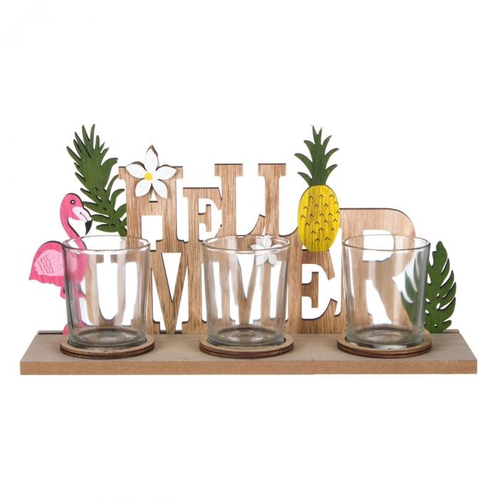 "Suport lumânări ""Hello Summer""28x8x14 cm [0]"