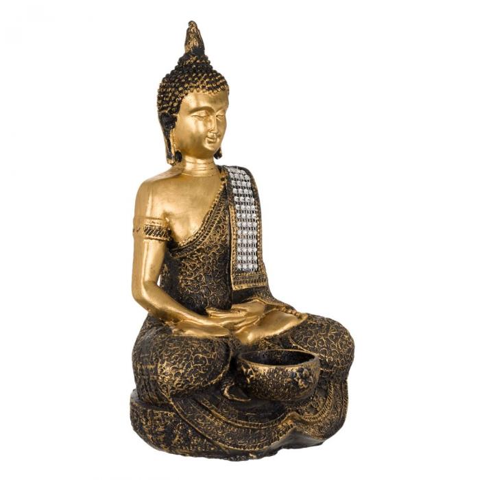 Suport lumânare Buddha -29cm 2