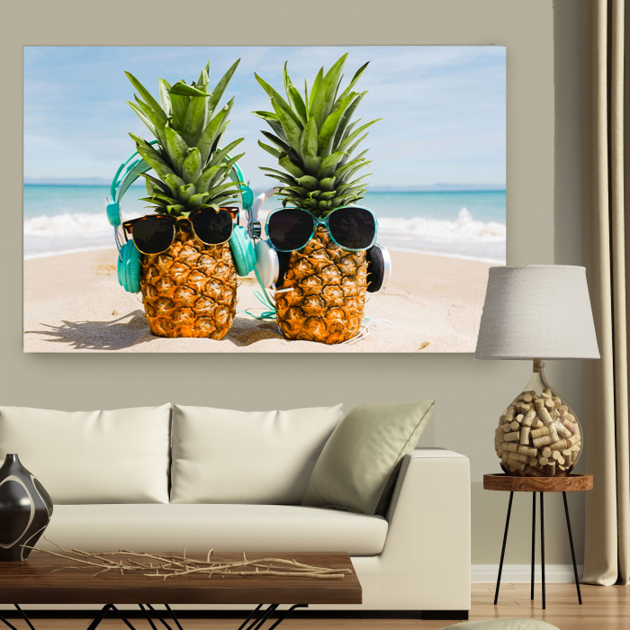 Tablou Canvas - Ananas Mood 2