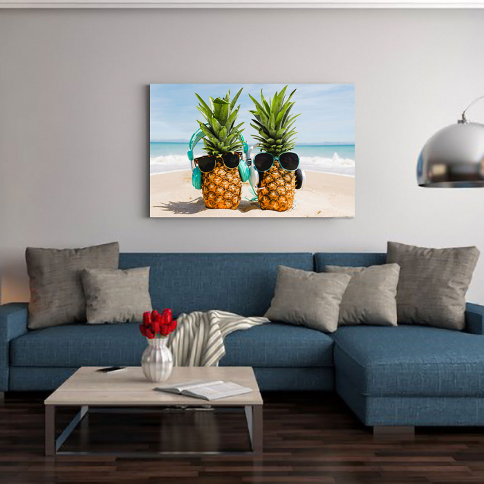 Tablou Canvas - Ananas Mood 1