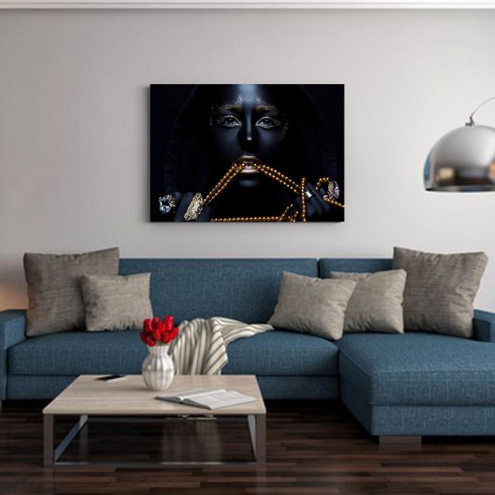 Tablou Canvas - Black & Gold 1