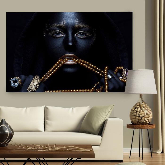 Tablou Canvas - Black & Gold 2