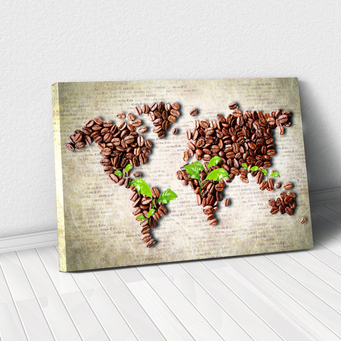 Tablou Canvas - Coffee beans world [0]