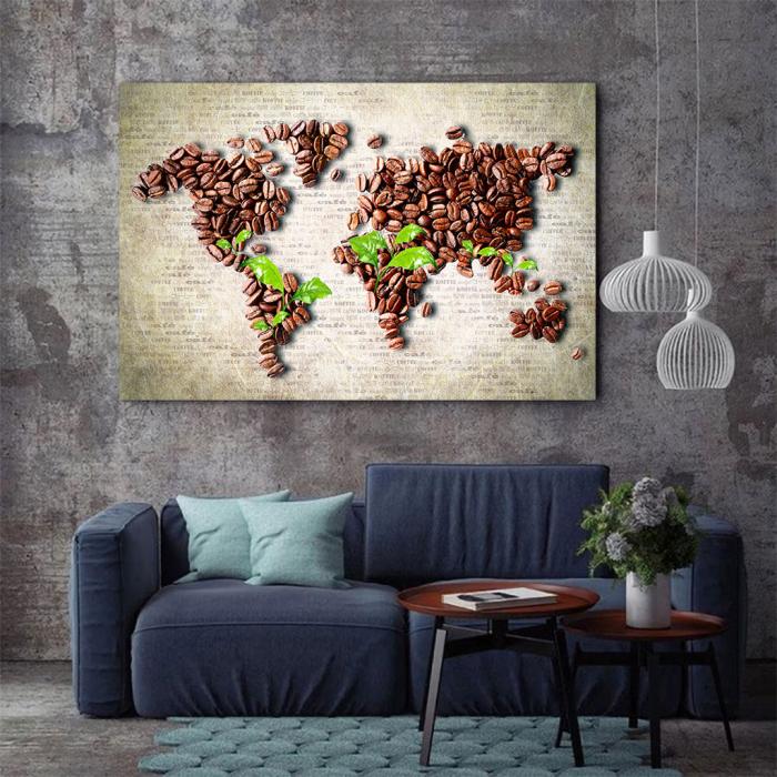 Tablou Canvas - Coffee beans world [1]