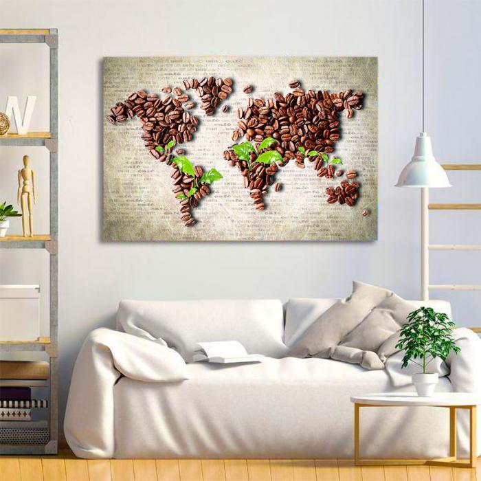 Tablou Canvas - Coffee beans world [3]