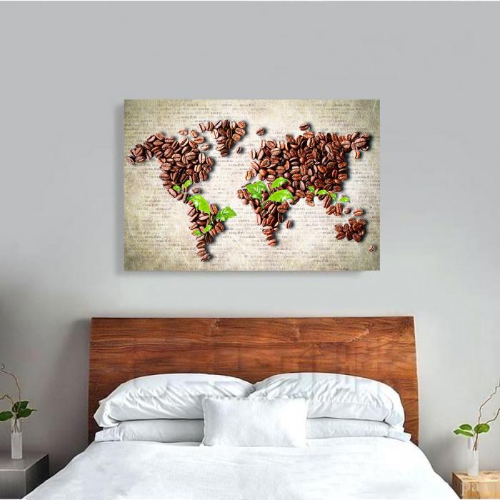Tablou Canvas - Coffee beans world [2]